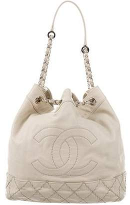 Chanel Surpique Drawstring Bucket Bag