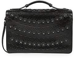 Alaia Women's Medium Franca Floral Leather Shoulder Bag
