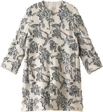 Vous Etes (ヴゼット) - ヴゼット フラワー刺繍ノーカラーコート