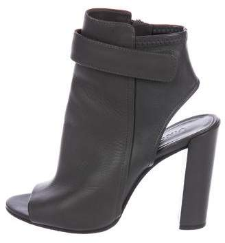 Vince Leather Peep-Toe Boots