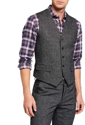 Joe's Jeans Men's Donegal Tweed Vest, Gray