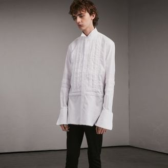 Burberry Cotton Evening Shirt with Pintucks and Macramé Trim $950 thestylecure.com