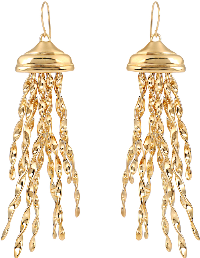 Aurelie Bidermann AURÉLIE BIDERMANN Theia gold-plated earrings