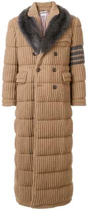 Thom Browne Down-Filled Camel Hair Chesterfield Overcoat