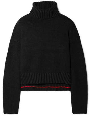 Proenza Schouler Cropped Knitted Turtleneck Sweater - Black