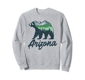 Retro Arizona Bear Sketch with Mountains & Trees Sweatshirt