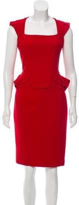 Elie Saab Sleeveless Crepe Dress