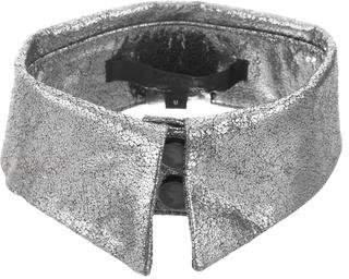 Karl Lagerfeld Metallic Leather Collar