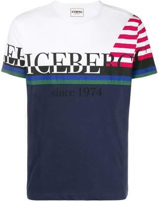 Iceberg stripe detail logo T-shirt