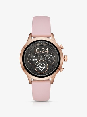 Michael Kors Runway Rose Gold-Tone and Silicone Smartwatch