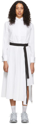 Sacai White Shirting Dress