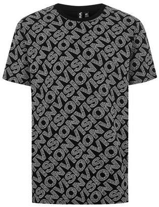 Topman Mens VISION STREET WEAR Black 'Static' T-Shirt