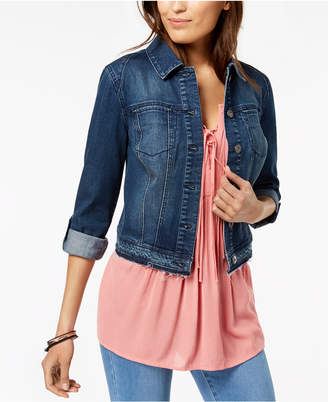 Style&Co. Style & Co Petite Cropped Denim Jacket, Created for Macy's