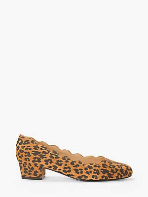 7ba82e37bea3 John Lewis   Partners Aiyana Scallop Mid Heel Court Shoes