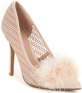 Betsey Johnson Olvia Perforated Pointed-Toe Pumps $89 thestylecure.com