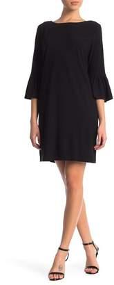 London Times Crepe Bell Sleeve Dress (Petite)