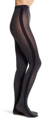 DKNY Tuxedo Side Stripe Knit Tights