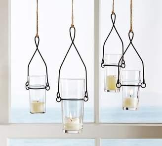 Pottery Barn Wire Glass Hanging Votive Holder