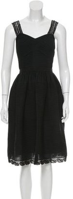 Alice by Temperley Lace-Trimmed A-Line Dress $125 thestylecure.com