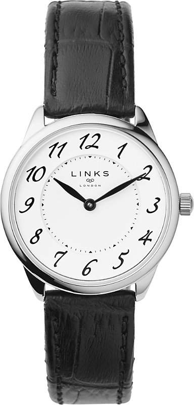 6010.2166 Narrative stainless steel and leather watch