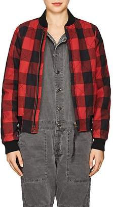 NSF Women's Neil Checked Flannel Bomber Jacket