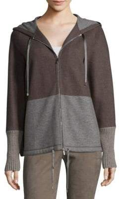 Lafayette 148 New York Colorblock Full-Zip Hoodie