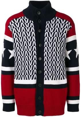 Valentino funnel neck cardigan