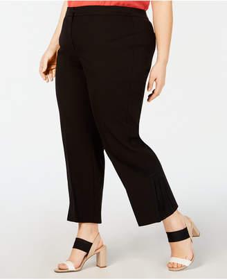 Alfani Plus Size Pleated-Hem Ankle Pants