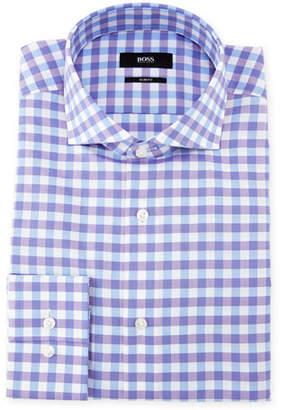 BOSS Jenno Gingham Dress Shirt, Purple