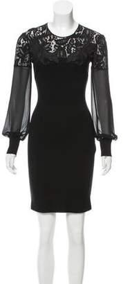 Just Cavalli Lace-Trimmed Mini Dress