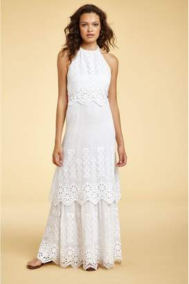 Miguelina Edna Tiered Halter Dress