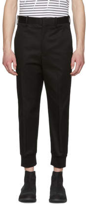 Neil Barrett Black Gabardine Drop Trousers