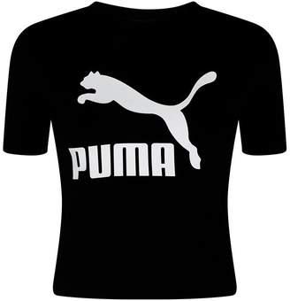 Puma Logo Cut-Out T-Shirt