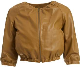 WtR - WtR Brown Leather Bomber Jacket