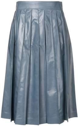 Bottega Veneta varnished full skirt