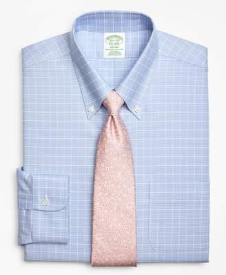 Brooks Brothers BrooksCool Milano Slim-Fit Dress Shirt, Non-Iron Ground Check