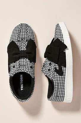 Tretorn Bow-Embellished Gingham Sneakers