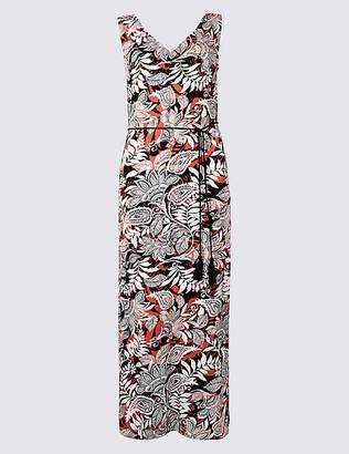 Marks and Spencer PETITE Paisley Print Slip Maxi Dress