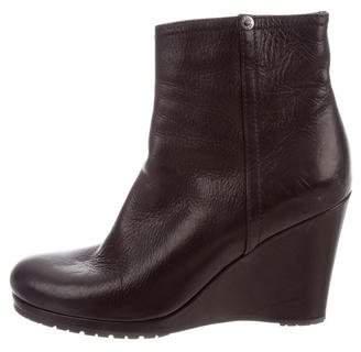 Prada Sport Leather Wedge Booties