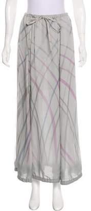 Giorgio Armani Silk Argyle Skirt