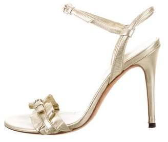 Gucci Leather Ankle-Strap Sandals