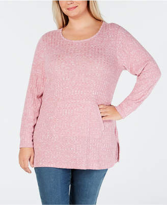 Style&Co. Style & Co Plus Size Ribbed-Knit Sweater, Created for Macy's