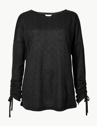 Marks and Spencer Textured Long Sleeve Pyjama Top
