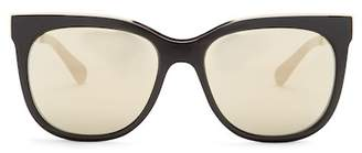 Diane von Furstenberg Women's Metal Brow Cat Eye Sunglasses