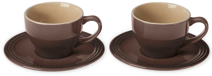 Le Creuset Set of 2 Cappuccino Cups and Saucers