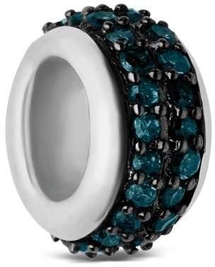Links of London Sterling Silver Sweetie Pavé Blue Diamond Bead