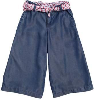 Armani Junior Chambray Wide Leg Pants W/ Scarf Belt