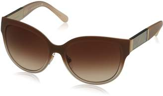 Burberry Women's Gradient BE3087-114513-57 Butterfly Sunglasses