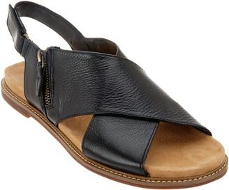 8c12032eea3 Clarks Artisan Leather Cross Band Sandals - Corsio Calm