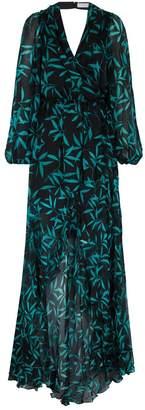 Caroline Constas Olivia Printed Ruffle Maxi Dress